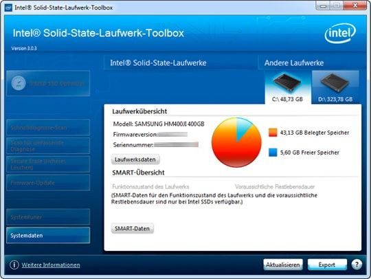 Intel Software - SSD-Toolbox