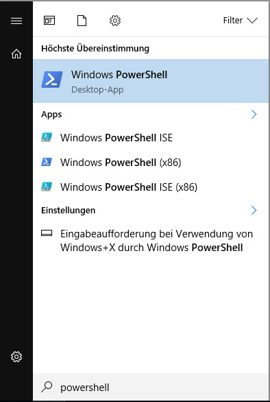 PowerShell Auswahl