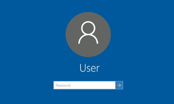 Screenshot Windows 10 Login